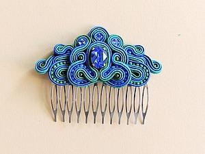 Создаем украшение «Гребень Ундины» с кристаллом Swarovski | Ярмарка Мастеров - ручная работа, handmade