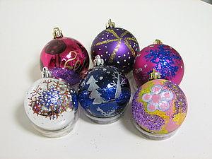 Роспись ёлочных шаров для детей и взрослых | Ярмарка Мастеров - ручная работа, handmade