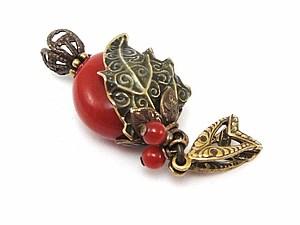 Cборка ягодного кулончика   Ярмарка Мастеров - ручная работа, handmade