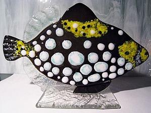Создаем рыбку в технике «фьюзинг». Ярмарка Мастеров - ручная работа, handmade.