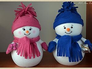 МК Снеговичка - просто и быстро! | Ярмарка Мастеров - ручная работа, handmade