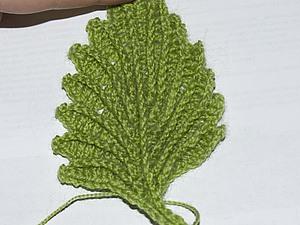 Рельефный лист, handmade