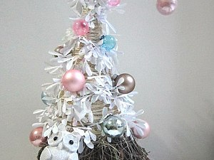 Альтернативная елка из натуральных материалов   Ярмарка Мастеров - ручная работа, handmade