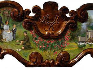 «Фамильный медальон»: пишем изысканную картину на деревянной заготовке. Ярмарка Мастеров - ручная работа, handmade.