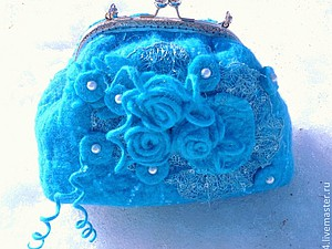 Лотерея - а приз - шикарная валяная сумочка | Ярмарка Мастеров - ручная работа, handmade