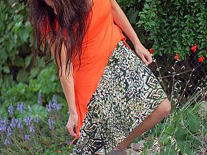 Аукцион N19 - Ассиметричная юбка из трикотажа | Ярмарка Мастеров - ручная работа, handmade