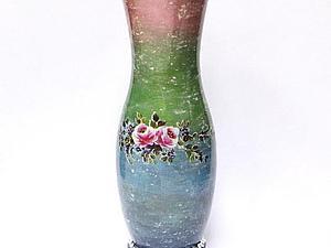 Ваза с имитацией мраморной поверхности   Ярмарка Мастеров - ручная работа, handmade