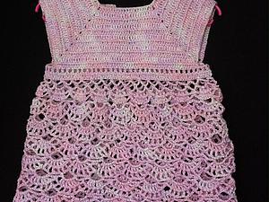 Вяжем детское платье крючком. Ярмарка Мастеров - ручная работа, handmade.