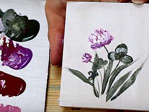 Видео мастер-класс: как нарисовать клевер акриловыми красками. Ярмарка Мастеров - ручная работа, handmade.