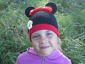 Вяжем шапочку «Минни-Маус». Ярмарка Мастеров - ручная работа, handmade.
