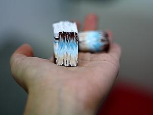 Частый шеврон с переходом цвета. Полимерная глина (кейн). Ярмарка Мастеров - ручная работа, handmade.
