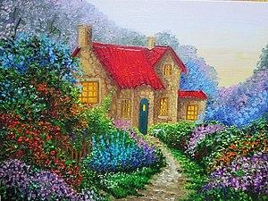 аукцион на уютные  домики! гармоничные , добрые картины! | Ярмарка Мастеров - ручная работа, handmade