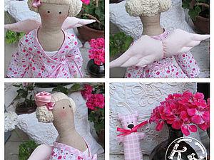 Тильда Ангел в пижамке. Мастер-класс по пошиву куклы | Ярмарка Мастеров - ручная работа, handmade