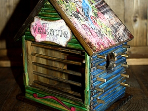 "МК ""Кормушка для птичек"". Ярмарка Мастеров - ручная работа, handmade."