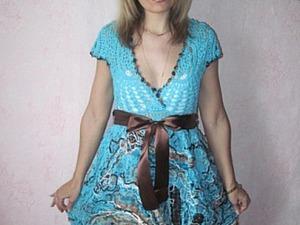 Платье «Камыши» в технике крейзи-вул. Ярмарка Мастеров - ручная работа, handmade.