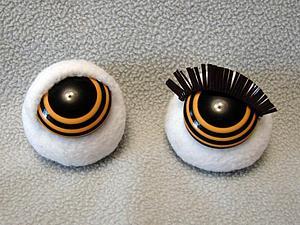 Как сделать реснички для игрушек и кукол | Ярмарка Мастеров - ручная работа, handmade
