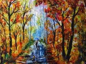 Мастер-класс по валянию картин из шерсти (пейзаж)   Ярмарка Мастеров - ручная работа, handmade
