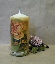 Декорируем свечу в технике декупаж. Ярмарка Мастеров - ручная работа, handmade.