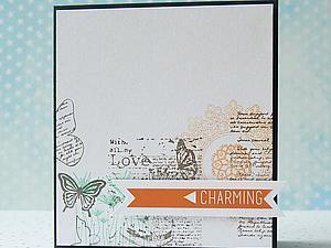 Делаем CAS-открытку. Печать в стиле коллажа. Ярмарка Мастеров - ручная работа, handmade.