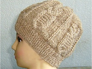 Вязание шапочки узором