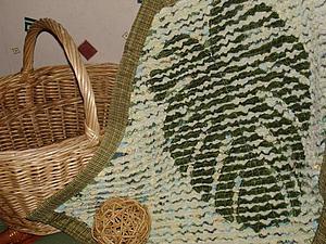 Мастер-класс: коврик с «отпечатком» листа в технике «синель». Часть 2. Ярмарка Мастеров - ручная работа, handmade.