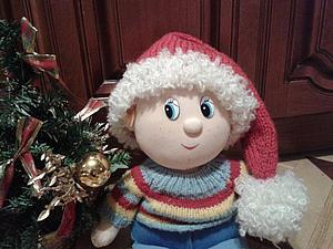 Шапочка-колпачок Деда Мороза для фотосессии. | Ярмарка Мастеров - ручная работа, handmade