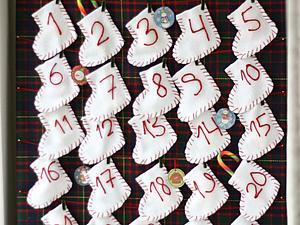 Считаем дни до Нового года: делаем адвент-календарь из фетра | Ярмарка Мастеров - ручная работа, handmade