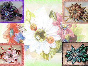 Цветы из ткани в технике