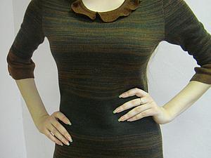 Аукцион на вязаное платье с рюшами  Старт 1000 руб   Ярмарка Мастеров - ручная работа, handmade