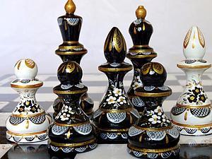 Новая работа - шахматы большие чёрно-белые