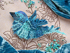 Шелковая птица-брошь (мастер-класс) | Ярмарка Мастеров - ручная работа, handmade