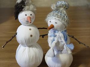 Новогодний снеговичок - мастерим  вместе с ребенком   Ярмарка Мастеров - ручная работа, handmade