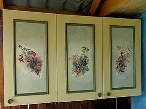 Декорируем старый навесной шкаф. Ярмарка Мастеров - ручная работа, handmade.