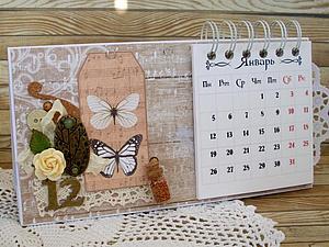 Мастер-класс по перекидному настольному календарю   Ярмарка Мастеров - ручная работа, handmade