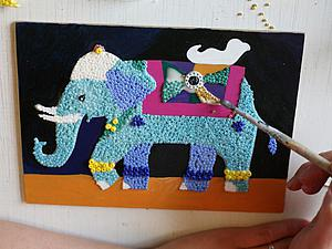 Делаем панно-мозаику из бисера