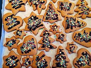 Рождественское Имбирное Печение | Ярмарка Мастеров - ручная работа, handmade