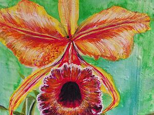Видео мастер-класс: рисуем орхидею. Ярмарка Мастеров - ручная работа, handmade.