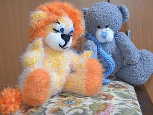 Как связать гриву вязаному льву или львенок по описанию для медвежонка. Ярмарка Мастеров - ручная работа, handmade.