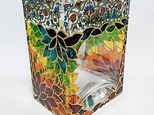 Декорирование стеклянной вазы   Ярмарка Мастеров - ручная работа, handmade