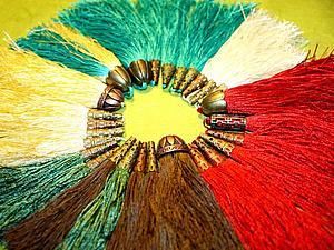 Мастер-класс: красивые кисточки из ниток | Ярмарка Мастеров - ручная работа, handmade