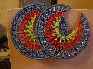 Вязаные серьги | Ярмарка Мастеров - ручная работа, handmade