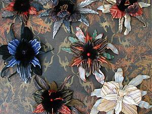 Аукцион!!! Цветы из кожи!!! | Ярмарка Мастеров - ручная работа, handmade