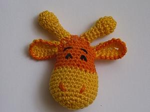 Вязание головы жирафика (игрушка для слингобус) | Ярмарка Мастеров - ручная работа, handmade