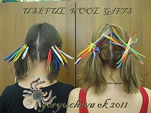 ДРЕДзинки для волос из войлока. Ярмарка Мастеров - ручная работа, handmade.
