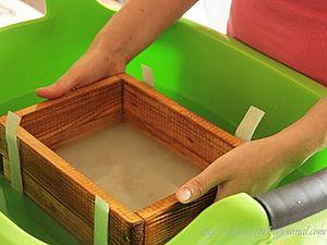 МК по бумажному литью.  Бумага из растительного сырья | Ярмарка Мастеров - ручная работа, handmade