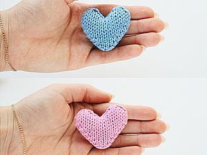 Видео мастер-класс: вяжем милые сердечки спицами. Ярмарка Мастеров - ручная работа, handmade.
