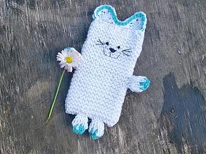 Вяжем чехол для телефона «Мой котя». Ярмарка Мастеров - ручная работа, handmade.