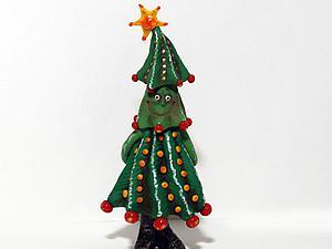 Лепим веселую новогоднюю ёлочку из полимерной глины. Часть 1. Ярмарка Мастеров - ручная работа, handmade.
