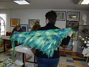 Весенний тонкий шарф  со сплошной заливкой вискозными или шелковыми волокнами   Ярмарка Мастеров - ручная работа, handmade