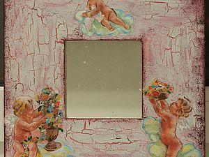 Декорируем зеркало в технике декупаж. Ярмарка Мастеров - ручная работа, handmade.